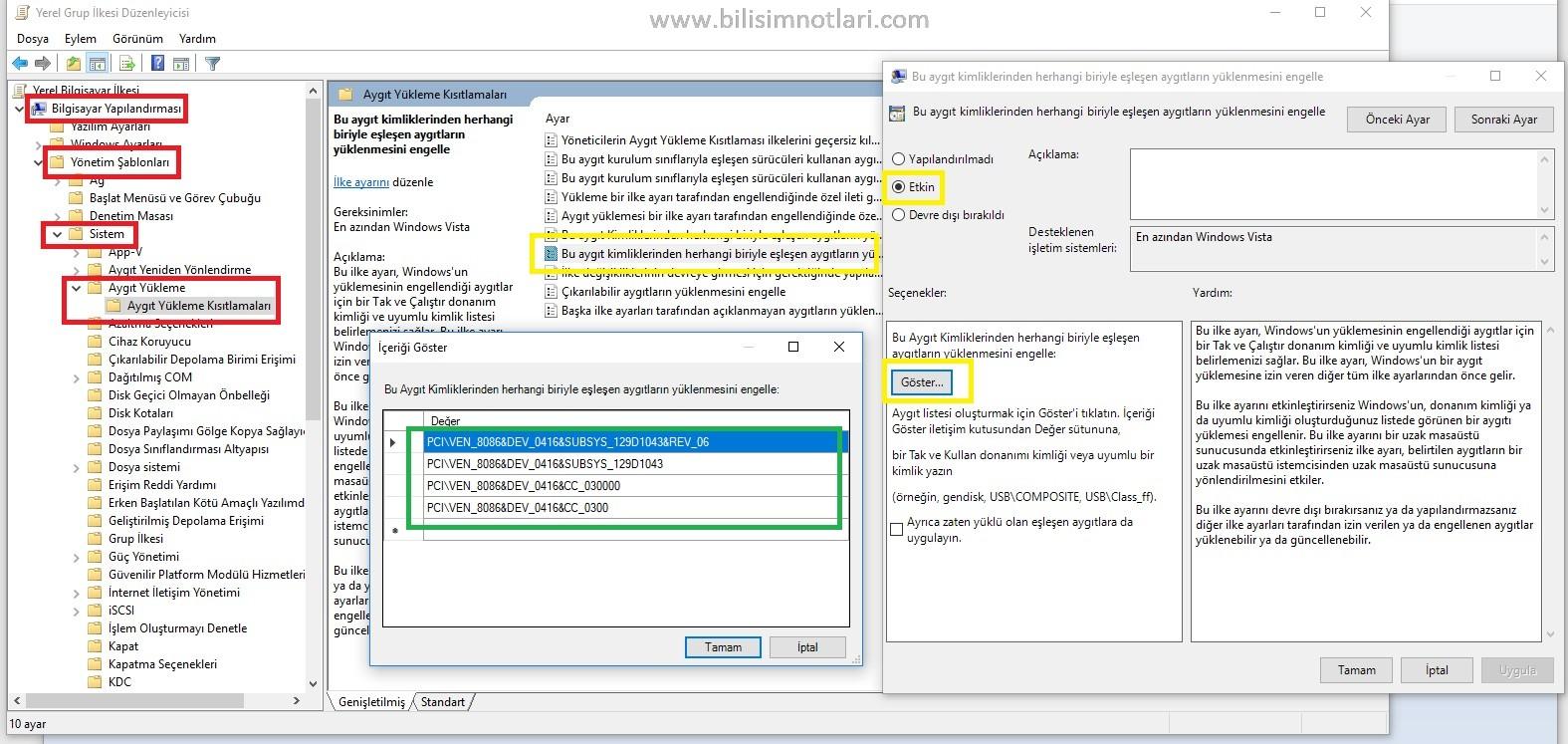 Windows 10 Driver Güncellemelerini Engelleme